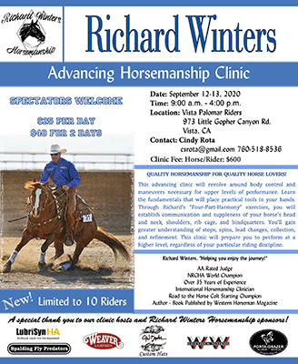 Richard Winters Clinic - Vista CA June 2020